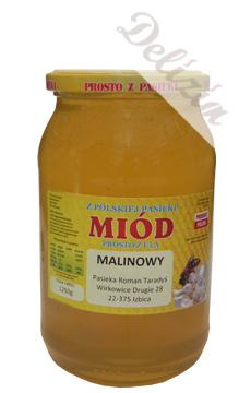 Polski miód malinowy 1200g